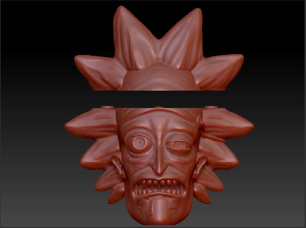 3D rick prints modeled