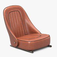 3D retro car cabin seat model