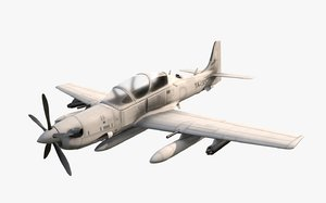 3D model 29 super tucano fighter jet