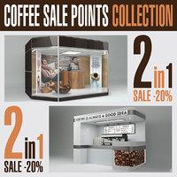 coffee sale points 3D model