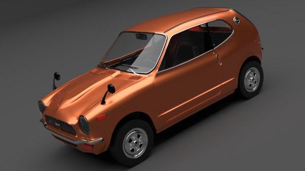 1970 hon da z 3D model