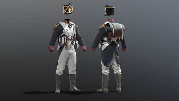 3D french grande armee soldier