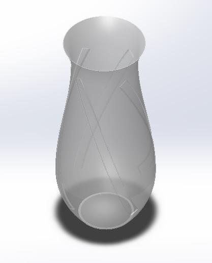 3D model vase -