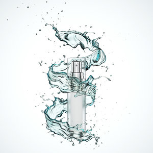cosmetic water splash 3D