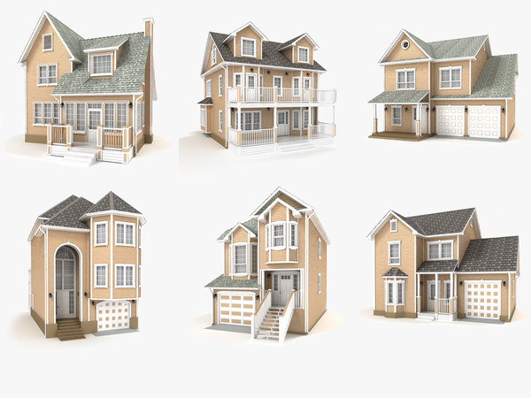 hi-poly cottages vol 12 3D model