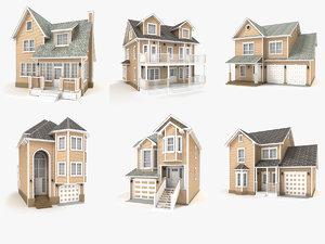 hi-poly cottages vol 12 3D model