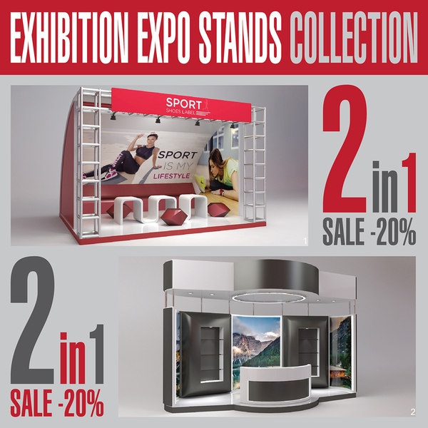 3D exhibition expo stands
