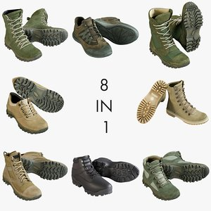 3D realistic shoes 1 boot