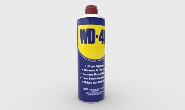 3D wd40 spraycan
