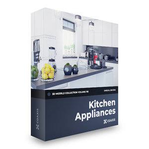 3D model kitchen appliances volume 116