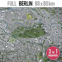 berlin city area 3D model