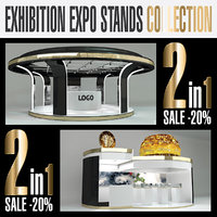 3D model exhibition expo stands