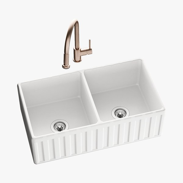 realistic sink oldham mixer 3D