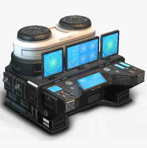 3D sci fi lab model
