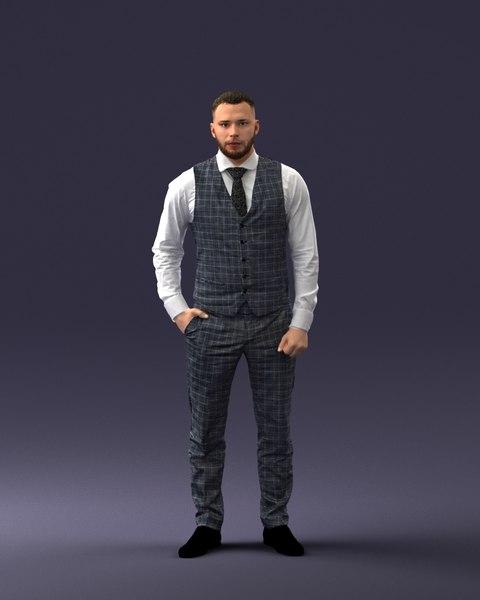 3D model man businessman c
