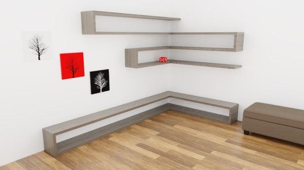 decorative shelves model