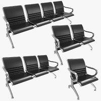 waiting chair cushions 3D model
