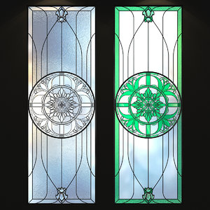 3D glass stained stained-glass model