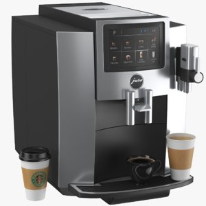 real coffee maker 3D