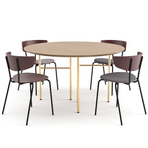 3D herman chair mingle table