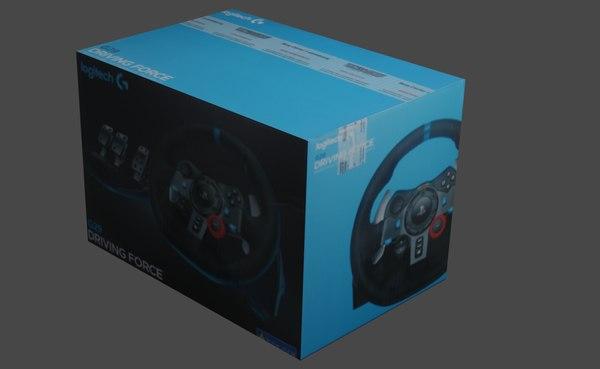 box logitech driving g29 3D model