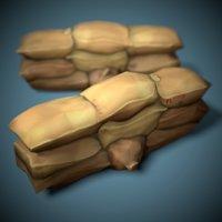stylized sandbags ready model