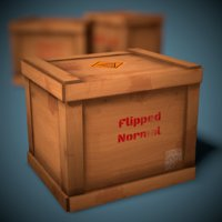 3D stylized wooden crate ready model