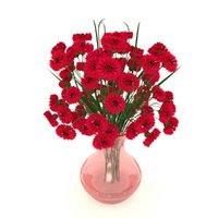 cornflower red 3D model