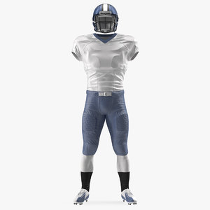 3D american football player uniform model
