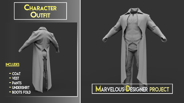 3D marvelous designer project