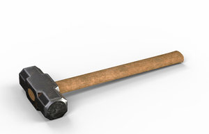 3D old sledge hammer
