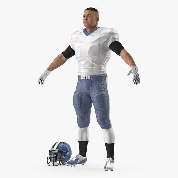 3D model american football player fur