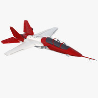military trainer aircraft rigged 3D