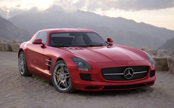 3D car mercedes sls