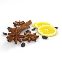 cinnamon coffee brown 3D model