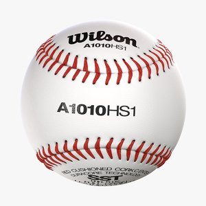 3D wilson baseball ball realistic model