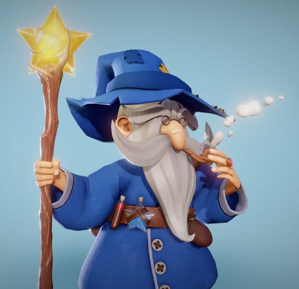 3D mage wizard sorcerer