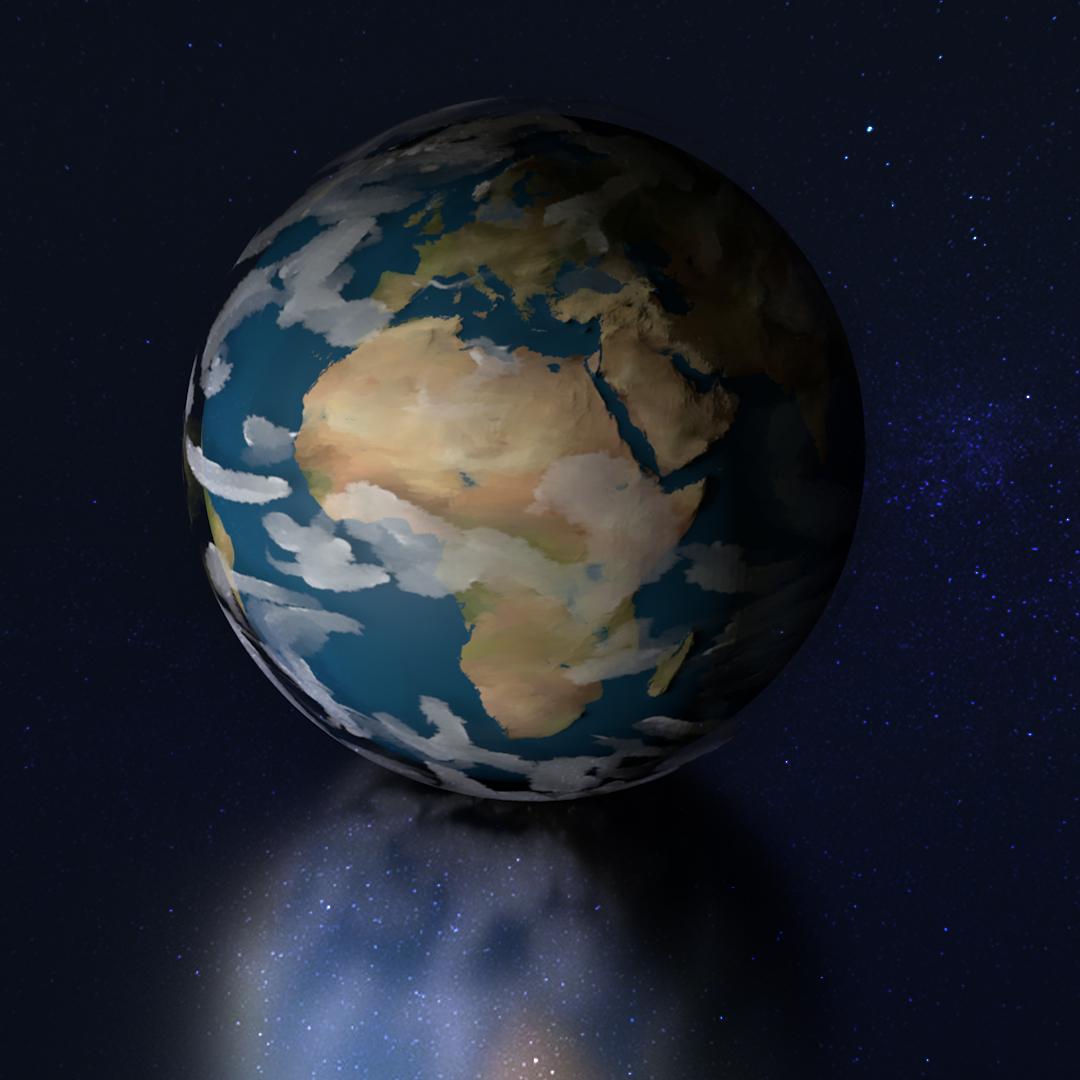 Dessin Animé De La Planète Terre