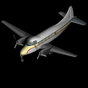 3D dehavilland dove model