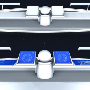3D spaceship cockpit