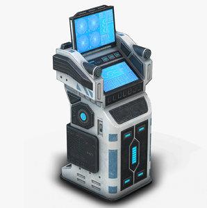 3D sci fi terminal 01