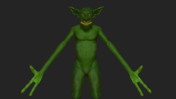 character goblin monster 3D model