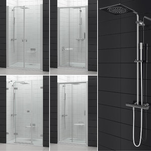3D set shower doors ravak