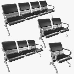 waiting chair cushions 02 3D