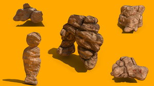 3D model pack sandstones rock