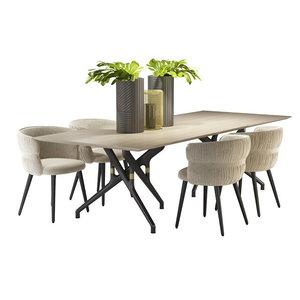 3D table potocco torso armchair model