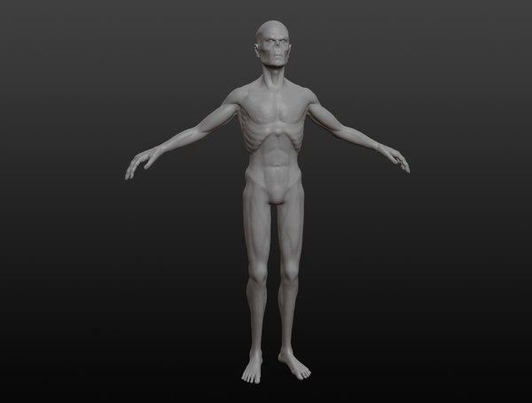 3D creature character zombie