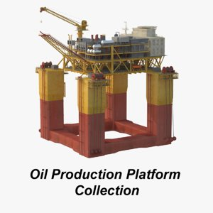 3D oil production platform set
