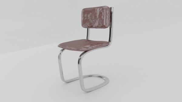 chair furniture school seat 3D model