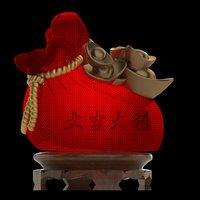 chinese money bag 3D model